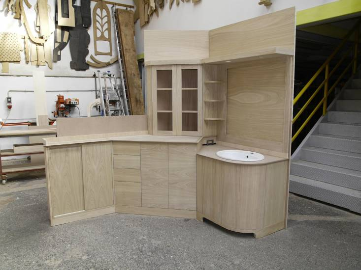 Mobile bagno in legno e alloggio lavatrice design - Mobile bagno con portalavatrice ...