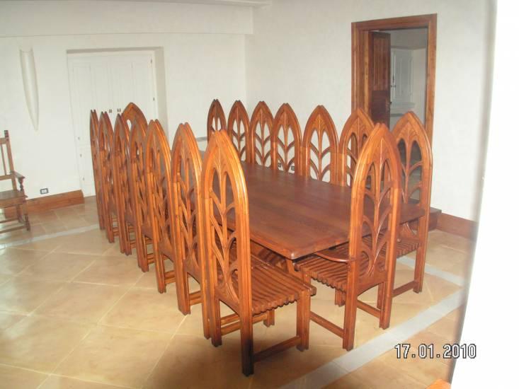 Tavolo rettangolare in legno artigianale design esclusivo fabbrica di bagni oggetti di design su - Oggetti di design in legno ...