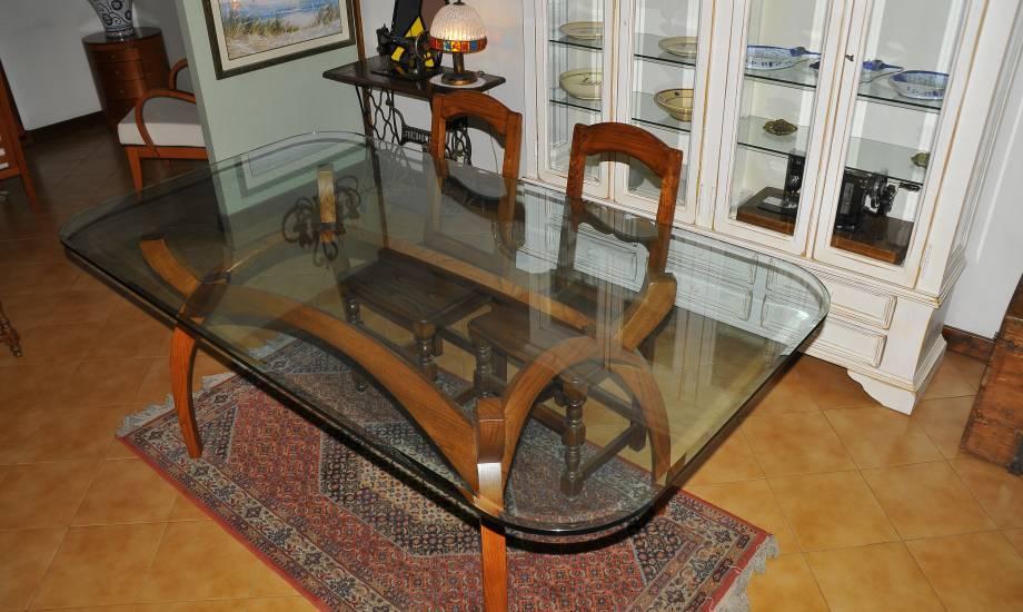 Tavoli In Cristallo Classici.Tavolo In Legno E Cristallo Su Misura Realizzazione Artigianale